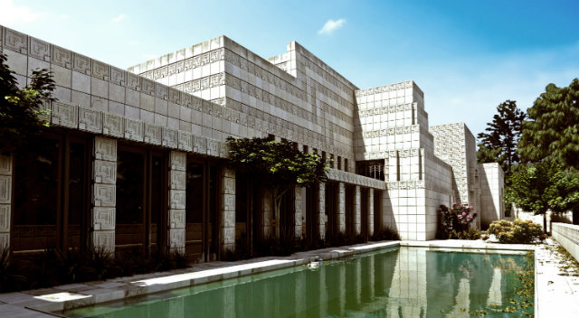 EnnisHouse5 Frank Lloyd Wright's Mayan temple in Los Angeles Frank Lloyd Wright's Mayan temple in Los Angeles EnnisHouse5