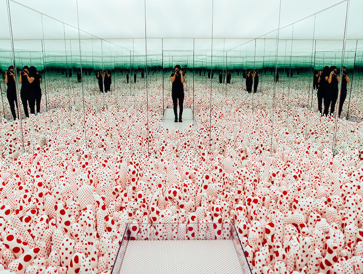 First Look from the Yayoi Kusama Exhibition: Infinity Mirrors