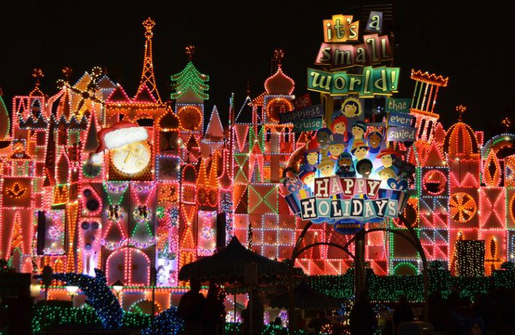 christmas 6 Events to Visit This Christmas in Southern California Disneyland Its A Small World Christmas at night 1024x678