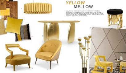 yellow Yellow: The Optimist Summer Color To Delight Your Decor Moodboard Yellow Mellow 409x237